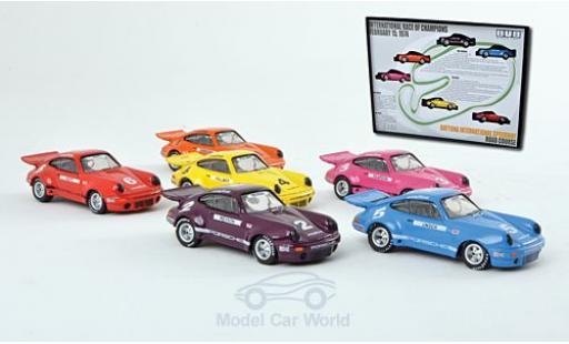 Porsche 911 1/87 Bub 3.0 RSR IROC-Set: 6 Stück diecast model cars
