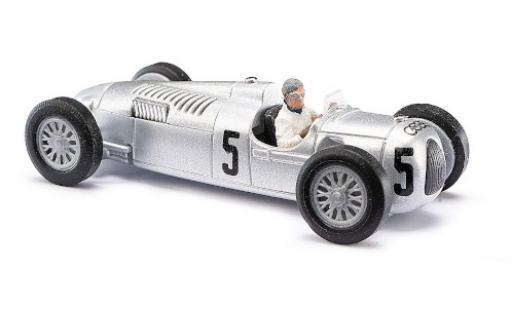 Auto Union Typ C 1/87 Busch No.5 Formel 1 GP Großbritannien 1937 mit Figur B.Rosemeyer diecast