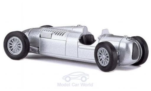Auto Union Typ C 1/87 Busch grise Formel 1 1936 Megamodell in PC-Box miniature