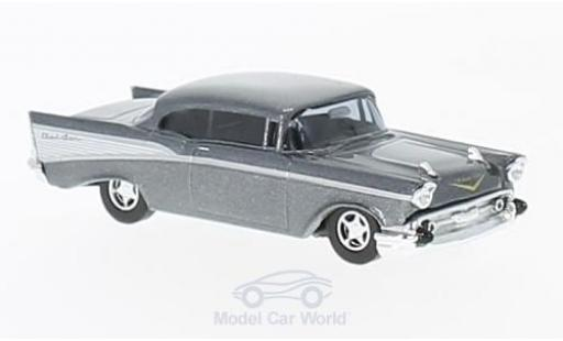 Chevrolet Bel Air 1957 1/87 Busch metallise grey diecast model cars
