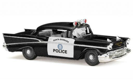 Chevrolet Bel Air 1/87 Busch Santa Barbara Police 1957 diecast model cars