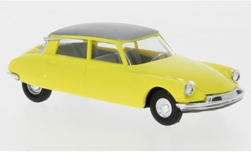 Citroen DS 1/87 Busch 19 yellow/metallise grey diecast model cars