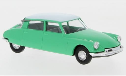 Citroen DS 1/87 Busch 19 turquoise/white diecast model cars