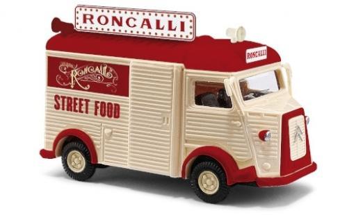 Citroen Type H 1/87 Busch Roncalli Street Food 1958 diecast model cars