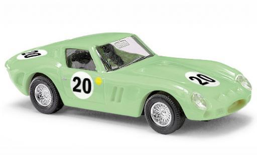 Ferrari 250 1/87 Busch GTO green No.20 diecast model cars