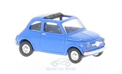 Fiat 500 L 1/87 Busch blue diecast model cars