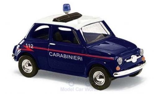 Fiat 500 1/87 Busch Carabineri 1965 diecast model cars