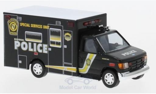 Ford E350 1/87 Busch E-350 Police - Special Service Unit 1992 diecast