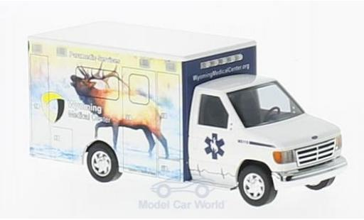 Ford E350 1/87 Busch E-350 Wyoming Medical Center 1992 Elch miniature