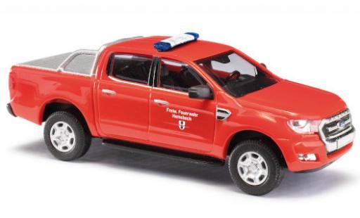 Ford Ranger 1/87 Busch DoKa Feuerwehr Hemsbach 2016 avec Predection de surface de chargement diecast model cars