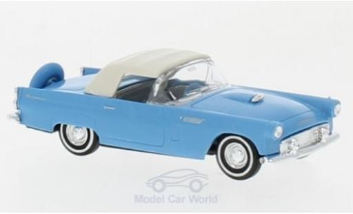 Ford Thunderbird 1956 1/87 Busch Convertible bleue miniature