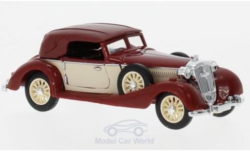 Horch 853 1/87 Busch Cabriolet rouge/beige 1933 miniature