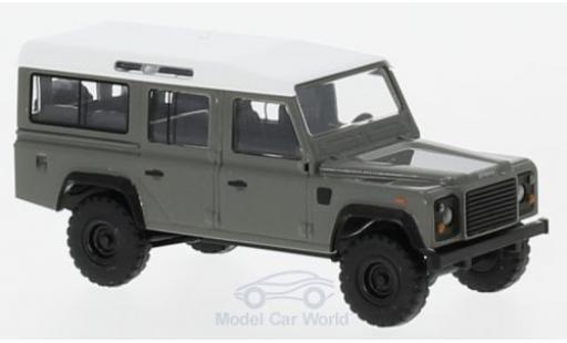 Land Rover Defender 1/87 Busch grise/blanche miniature