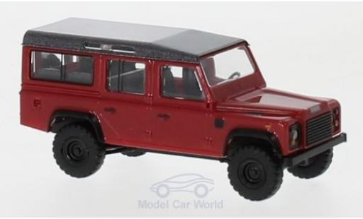 Land Rover Defender 1/87 Busch metallise rouge/metallise grise 1983 miniature