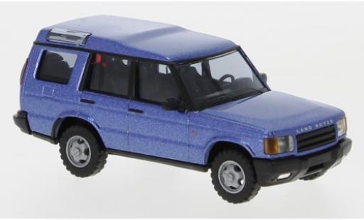 Land Rover Discovery 1/87 Busch métallisé bleue miniature