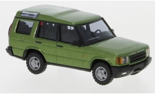 Land Rover Discovery 1/87 Busch métallisé verte miniature