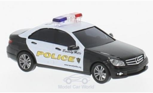 Mercedes Classe C 1/87 Busch Beverly Hills Police 2007 diecast model cars