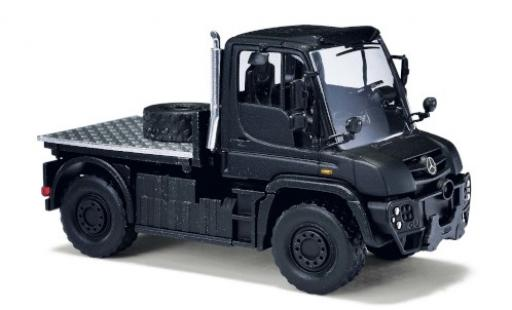 Mercedes Unimog 1/87 Busch U 430 black Black Edition diecast model cars