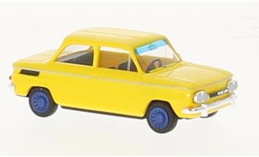 NSU 1000 1/87 Busch TT yellow 1965 diecast model cars