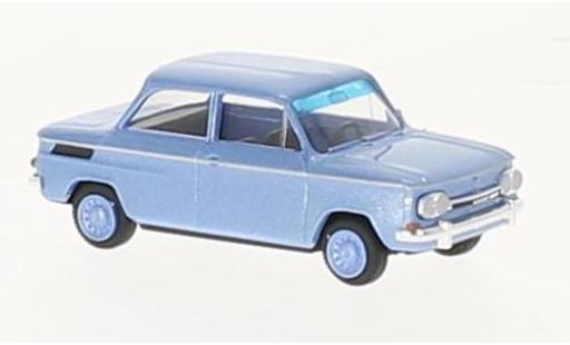 NSU 1000 1/87 Busch TT metallise bleue 1965 miniature