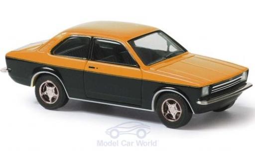 Opel Kadett 1/87 Busch C orange/schwarz 1977 modellautos