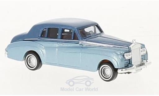 Rolls Royce Silver Cloud 1/87 Busch metallise bleue/metallise bleue 1959 miniature