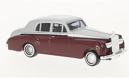 Rolls Royce Silver Cloud 1/87 Busch metallise rouge/grise 1959 miniature