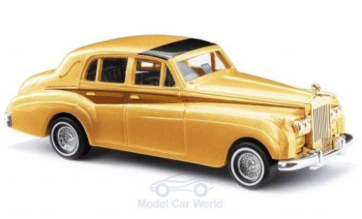 Rolls Royce Silver Cloud 1/87 Busch métallisé jaune/marron 1959 miniature