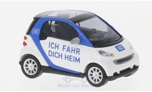 Smart ForTwo 1/87 Busch Fortwo Ich fahr dich heim 2007 Car2go miniature