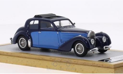 Bugatti 57 S 1/43 Chromes Type Galibier Gangloff Demi Berline bleue/bleue RHD 1937 sn603 miniature
