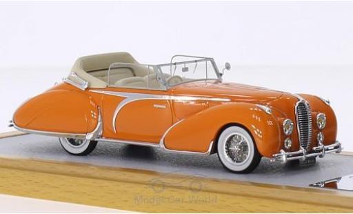 Delahaye 135 1/43 Chromes Cabriolet Figoni Falaschi marron RHD 1948 El Glaoui sn800954 miniature