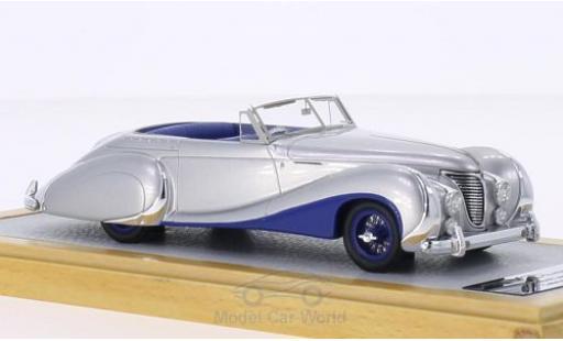 Talbot Lago 1/43 Chromes T26 Record Cabriolet Saoutchik grise/dunkelbleue RHD 1948 sn 100272 miniature