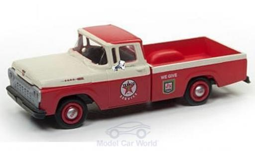 Ford F-1 1/87 Classic Metal Works 00 Pick Up rouge/beige Texaco Service 1960 miniature