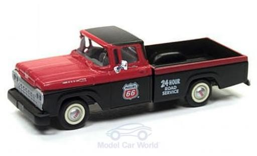 Ford F-1 1/87 Classic Metal Works 00 Pick Up rouge/noire Philips 66 Service 1960 miniature