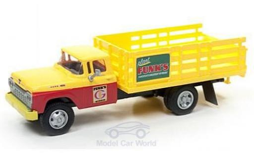 Ford Stake Bed Truck 1/87 Classic Metal Works jaune/rouge Funks Hybrids 1960 miniature
