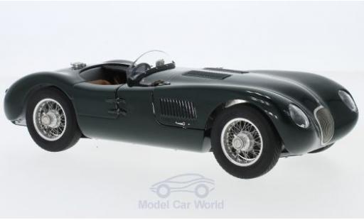 Jaguar C-Type 1/18 CMC verte RHD 1952 miniature