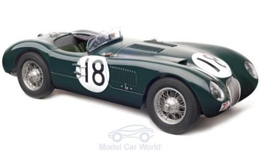 Jaguar C-Type 1/18 CMC verte RHD No.18 Racing Team 24h Le Mans 1953 T.Rolt/D.Hamilton miniature