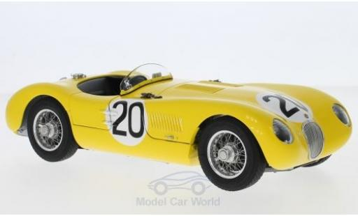 Jaguar C-Type 1/18 CMC RHD No.20 Racing Team 24h Le Mans 1953 R.Laurent/C.de Tornaco miniature
