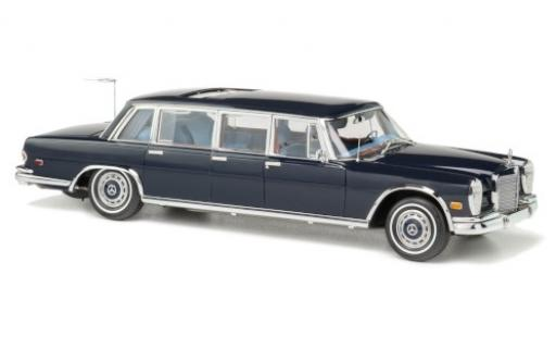 Mercedes 600 1/18 CMC Pullman (W100) blue King of Rock n Roll diecast model cars