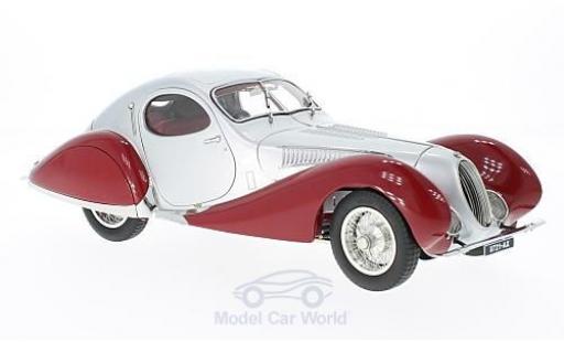 Talbot Lago 1/18 CMC Coupe Typ 150 C-SS Teardrop Figoni & Falaschi grise/rouge RHD 1937 miniature