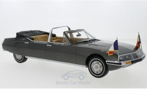 Citroen SM 1/18 CMF Presidentielle by Henri Chapron metallise grey 1972 diecast model cars