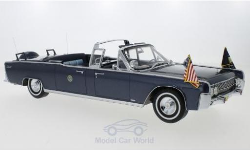 Lincoln Continental 1/18 CMF SS-100-X metallise bleue John F. Kennedy 1961 miniature