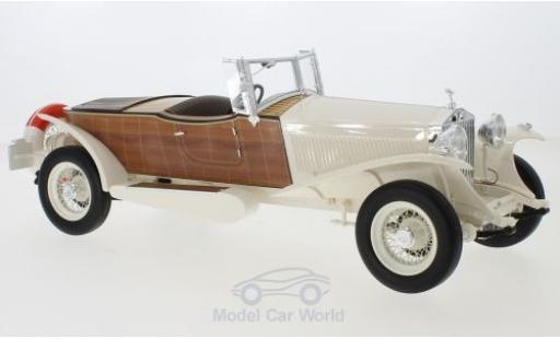 Rolls Royce Phantom 1/18 CMF II Boat Tail Tourer blanche/Holzoptik RHD 1932 miniature