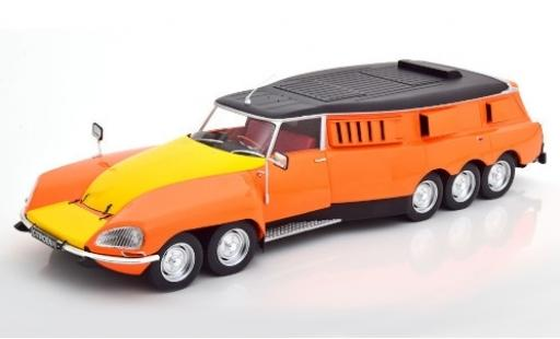 Citroen DS 1/18 CMR PLR Break Mille Pattes orange/matt-black Michelin 1972 v�hicule de test diecast model cars