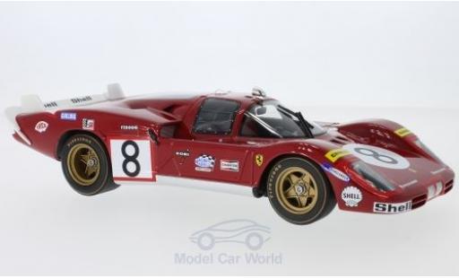Ferrari 512 1/18 CMR S Long Tail No.8 24h Le Mans 1970 A.Merzario/C.Regazzoni miniature