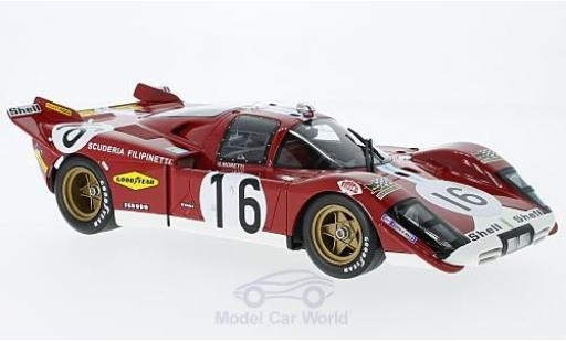 Ferrari 512 1/18 CMR S No.16 24h Le Mans 1970 G.Moretti/C.Manfredini miniature
