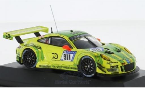 Porsche 991 GT3 R 1/43 CMR 911  No.911 Manthey 24h Nürburgring 2018 K.Estre/R. Dumas/L.Vanthoor/E.Bamber modellino in miniatura