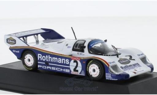 Porsche 956 1983 1/43 CMR K No.2 Rothmans 1000 Km Brands Hatch S.Bellof/D.Bell miniature