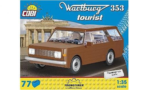 Wartburg 353 1/35 Cobi Tourist marron Bausteine Anzahl le Blöcke: 77 miniature