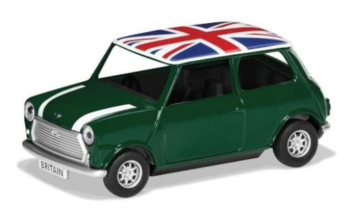 Mini Cooper 1/36 Corgi verte/blanche RHD Union Jack Best of Britannique miniature